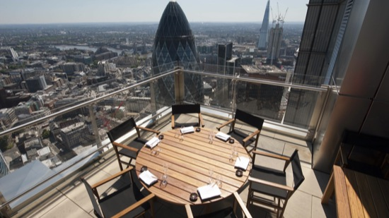 top 10 best rooftop restaurants in london with roof terraces